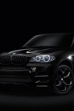 미리보기 iPhone 배경 화면 BMW X6 검정 SUV 자동차