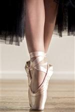 Preview iPhone wallpaper Ballerina, black skirt, shoes, feet, dancing