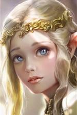 Linda garota de fantasia, elfo, princesa