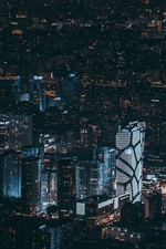 Preview iPhone wallpaper Beijing, China, city night, buildings, lights, top view