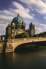 Berliner Dom, Germany, river, bridge