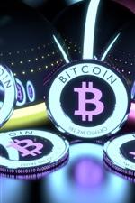 Preview iPhone wallpaper Bitcoin, crypto-money