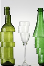 Preview iPhone wallpaper Bottles and cup, cutting, creative