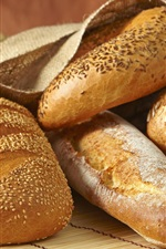 Preview iPhone wallpaper Bread, spikelets, food