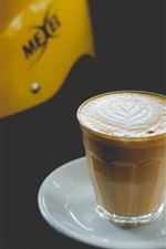 Preview iPhone wallpaper Cappuccino coffee, helmet