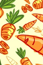 Preview iPhone wallpaper Carrots, vegetables, art drawing