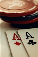 Preview iPhone wallpaper Chips and poker cards