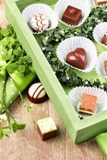 Preview iPhone wallpaper Chocolate candy, gift, green style
