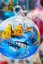 Christmas ball, decoration, painting