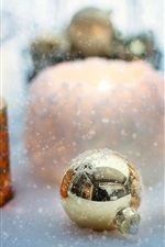 Preview iPhone wallpaper Christmas balls, candle, snow