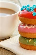 Preview iPhone wallpaper Coffee and donuts