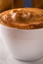 Coffee, white cup, foam