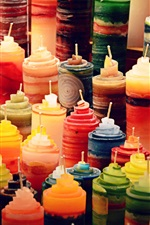 Preview iPhone wallpaper Colorful candles, still life
