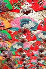 Colorful paper fan, Spring festival, Beijing, China