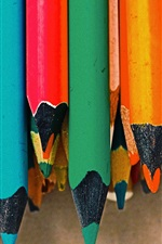Preview iPhone wallpaper Colorful pencils, point