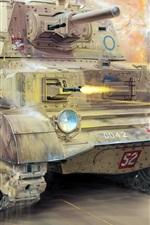 Preview iPhone wallpaper Cruiser Mk.II tank, British