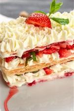 Preview iPhone wallpaper Delicious dessert, cream, strawberry