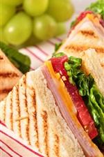 iPhone fondos de pantalla Deliciosa comida, sándwiches, jamón, pan tostado