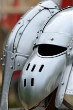 Preview iPhone wallpaper Different metal helmet