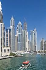 Preview iPhone wallpaper Dubai, UAE, skyscrapers, river