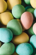 Preview iPhone wallpaper Easter eggs, colorful, holiday