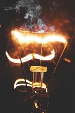 Lâmpada de eletricidade, iluminação, fumaça