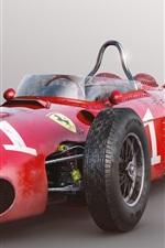 Preview iPhone wallpaper Ferrari 156 F1 red race car