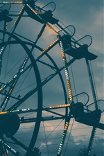 Preview iPhone wallpaper Ferris wheel, lights, night