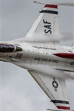 Preview iPhone wallpaper Fighting Falcon F-16C fighter flight