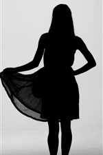 Preview iPhone wallpaper Girl silhouette, skirt