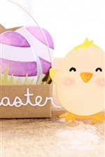 Feliz Páscoa, ovos, pássaros, arte