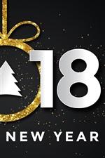 iPhone fondos de pantalla Feliz año nuevo 2018, árbol de navidad, estrellas