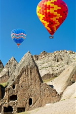 Preview iPhone wallpaper Hot air balloons, colorful, stones, Turkey