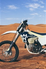 Preview iPhone wallpaper Husqvarna motorcycle, desert