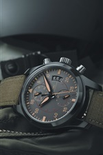 Preview iPhone wallpaper IWC black watch