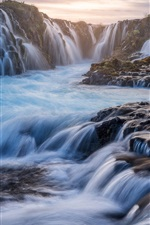Preview iPhone wallpaper Iceland, waterfalls, beautiful landscape