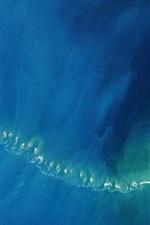 iPhone обои Индия, Шри-Ланка, Адам-Бридж, острова, море, вид сверху, НАСА