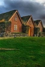 미리보기 iPhone 배경 화면 아일랜드, 아이슬란드 어, 주택, 잔디, HDR 스타일