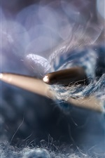 Knitting thread macro photography
