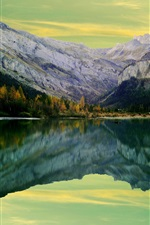 Preview iPhone wallpaper Lake, mountains, water reflection