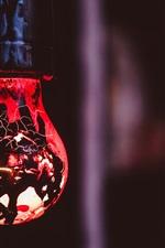 iPhone fondos de pantalla Iluminación de la lámpara, oscuridad