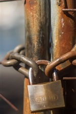Preview iPhone wallpaper Lock, chain, fence, rusty