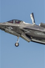 Preview iPhone wallpaper Lockheed Martin F-35B Lightning II fighter