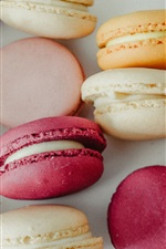 Preview iPhone wallpaper Macaroons, almond biscuits, food, colors