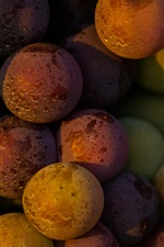 Preview iPhone wallpaper Many grapes, fruit