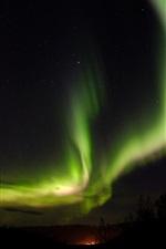 iPhone fondos de pantalla Noche, luces del norte, cielo