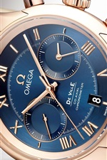 Preview iPhone wallpaper Omega watch, blue