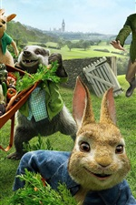 Preview iPhone wallpaper Peter Rabbit, cartoon movie