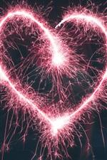 O coração de amor rosa quebra