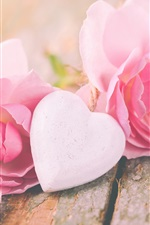 Rosas cor de rosa, amor coração, namorados